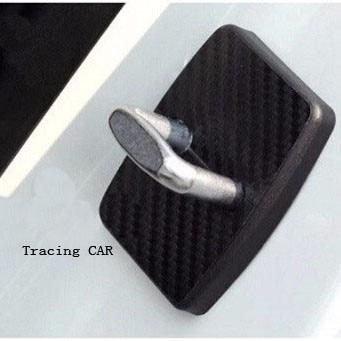 4 unids / set cubierta de bloqueo de puerta de coche tapa de fibra de carbono protectora para BMW X1 X3 X5 X6 M3 M5 325328 F30 F35 F10 F18 GT 5 6 7 Series