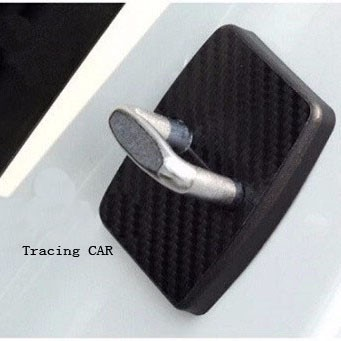4pcs / set Κάλυμμα κλειδαριάς αυτοκινήτου Προστατευτικό κάλυμμα ινών άνθρακα για BMW X1 X3 X5 X6 M3 M5 325 328 F30 F35 F10 F18 GT 5 6 Σειρά 7