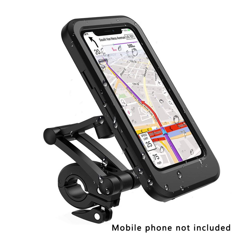 Bicycle Waterproof Phone Holder GPS Navigation For 4~6.7 inches Phone Universal Motorcycle Bicycle Handlebar Phone Holder Stand