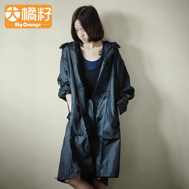 Waterproof Nylon Jacket Raincoat Women Scooter Outdoor Ladies Hooded Raincoat Long Stylish Capa De Chuva Travel Coat JJ60YY