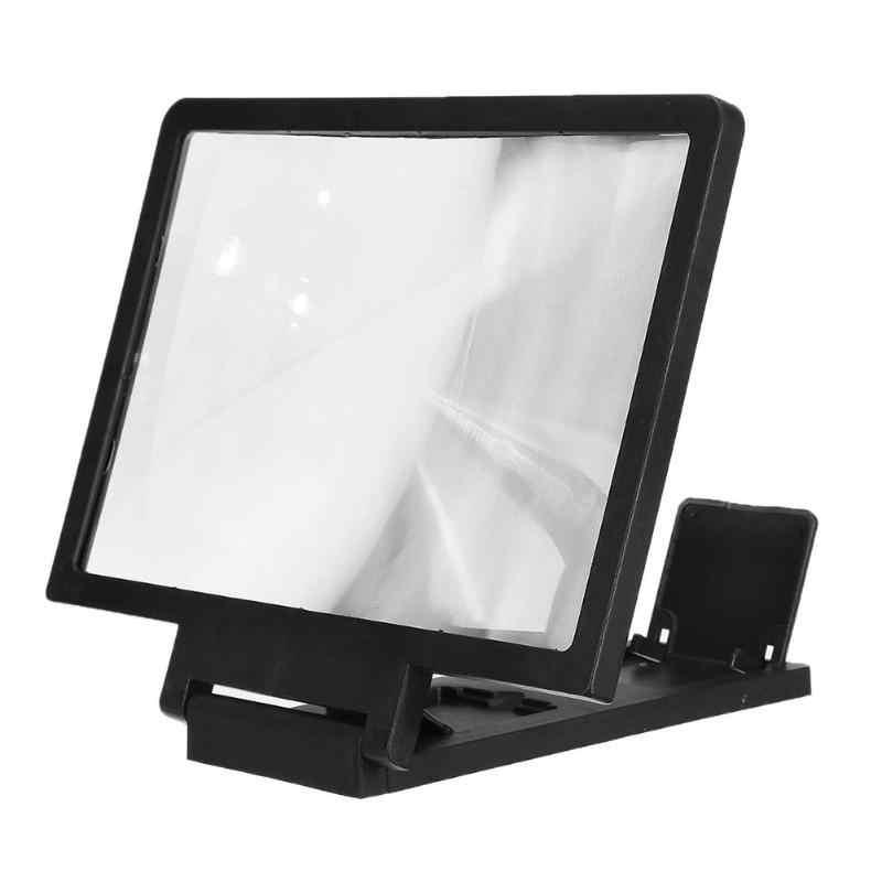 5.5 Inci 3D Layar Amplifier Ponsel Pembesar HD Video Berarti Layar Lipat Pembesaran Mata Perlindungan Ponsel Pemegang