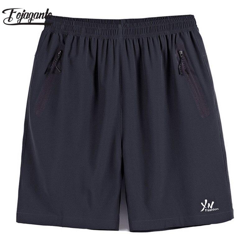 FOJAGANTO Men Summer Casual Shorts Brand Men's Trend Quick-Drying Knee Length Pants Sports Thin Beach Shorts Male