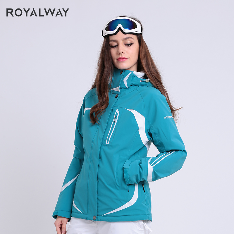 ROYALWAY Outdoor Sports Ski Suit Women Winter Warm Windproof Waterproof Snowboard Jackets Avalanche Search Rescue System