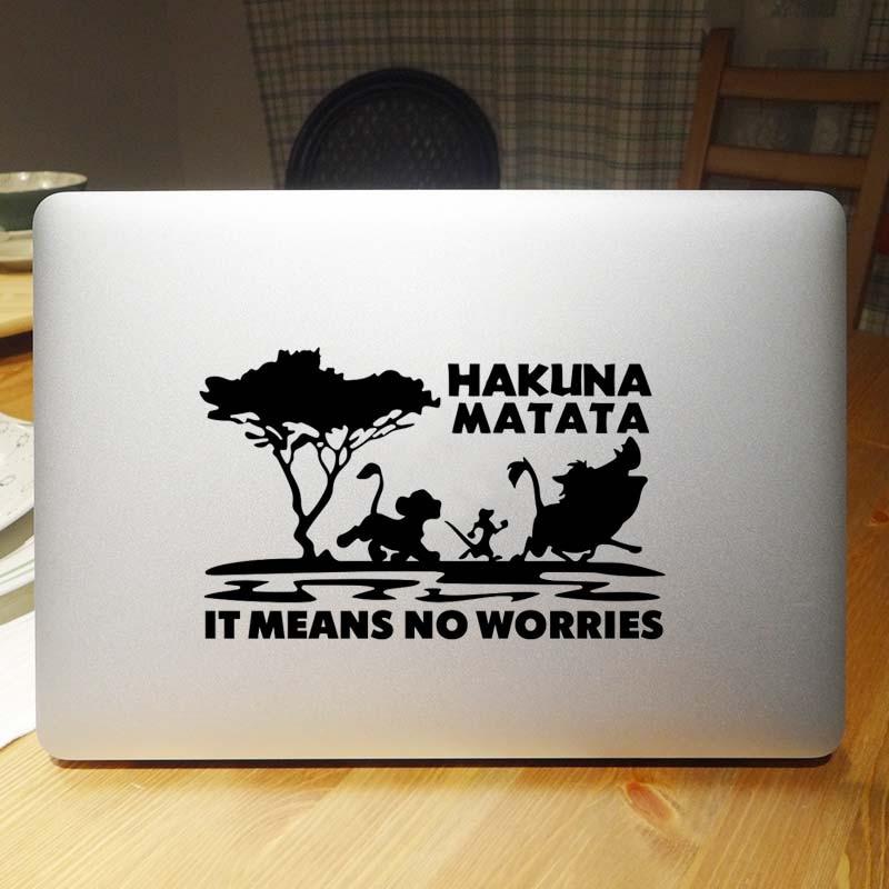 Hakuna Matata Король Лев наклейка для ноутбука для Macbook Наклейка Pro Air retina 11 12 13 14 15 Mi huawei Mac Book наклейка для ноутбука