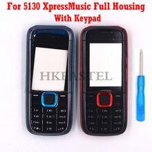 Coque de protection complète pour Nokia 5130 XpressMusic 5130XM, étui complet pour téléphone portable, clavier anglais et russe, outil inclus