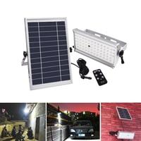 65 Leds Outdoor Solar Light Super Bright 1500lm 12W Spotlight Wireless Waterproof Garden Solar Lamp With Rremote Control