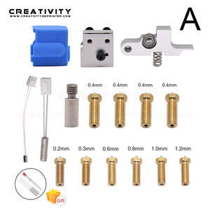 Image 2 - 3D Printer Extruder Sidewinder X1/Genius Silicone Nozzle Kit Throat Handle Thermistor Heating Pipe Heated Block for Artillery