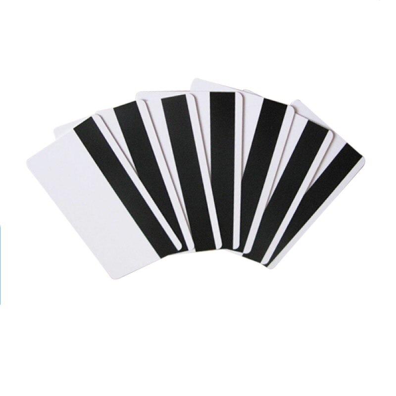 250pcs Plastic Blank PVC Cards With HiCo Magnetic Stripe For Zebra Evolis Datacard Fargo Hiti IDP Card Printers