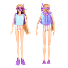 Newest Handmade high quality baby doll accessories swimsuit surfboard diving toys for barbie ken clothes doll best birthday gift ever after doll 9 5 inch high quality toys apple white raven quee joint 11 joints birthday gift for barbie accessories diy doll