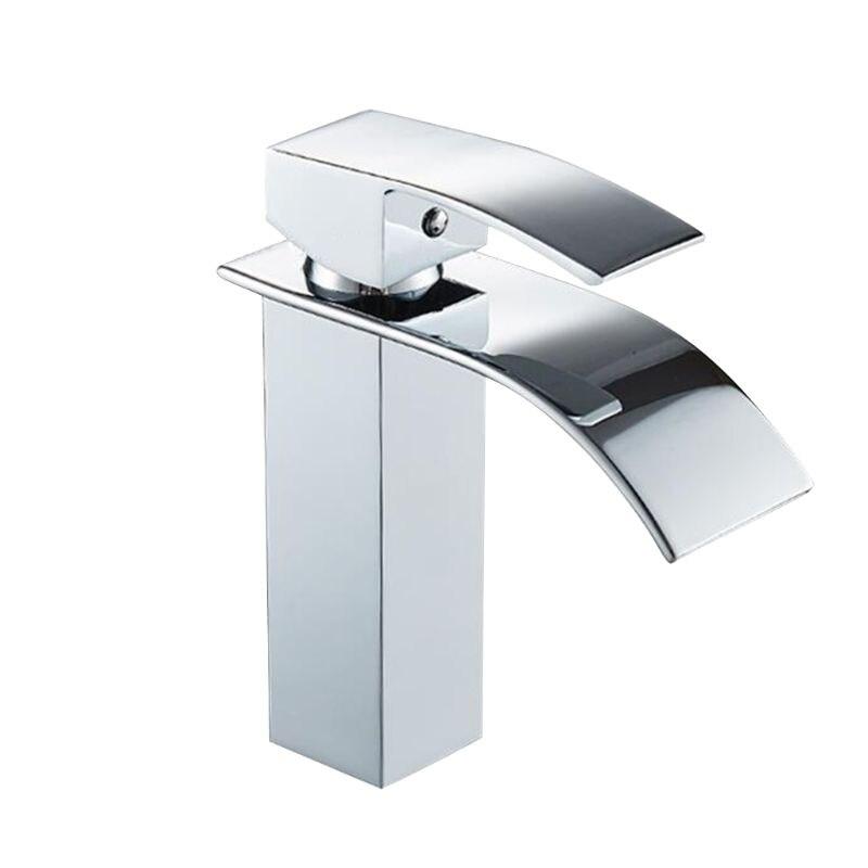 Tout-cuivre salle de bains cascade robinet bassin robinet monotrou robinet vanité navire éviers mélangeur eau froide et chaude robinet pont montage