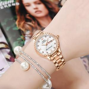 Image 3 - OLMECA Women Wrist Watch Fashion Auto Date Luxury Quartz Watches Relogio Feminino Watches 30M Waterproof Clock Lady Style