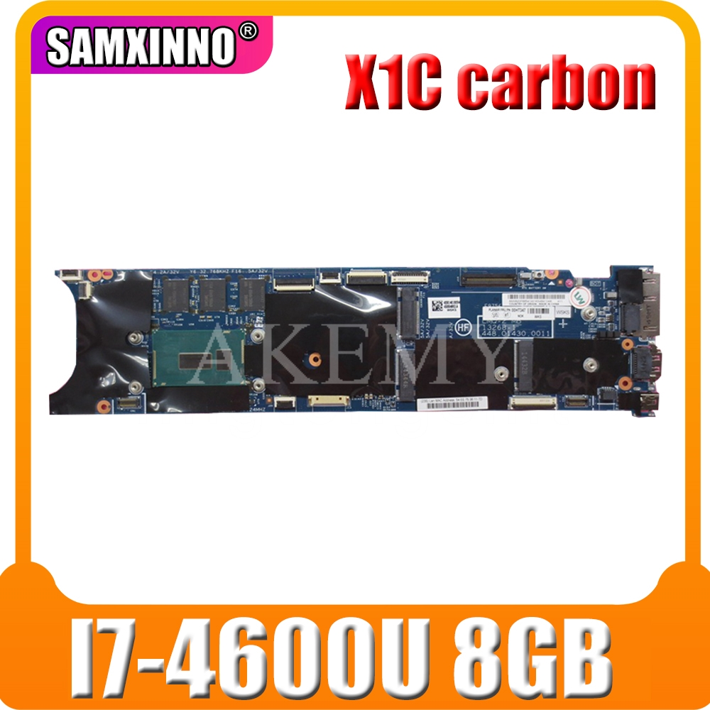 Laptop motherboard For Lenovo ThinkPad X1C X1 carbon <font><b>I7</b></font>-<font><b>4600U</b></font> 8G Mainboard 00UP985 00HN757 04X5580 12298-2 48.4LY06.021 image