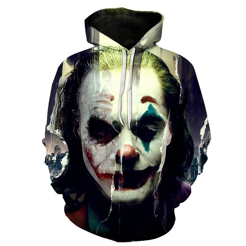 2019 New Joker Sweatshirts Men Brand Hoodies Men Joker Suicide Squad Deadshot 3D Printing Hoodie Male Casual Tracksuits Tops 6XL