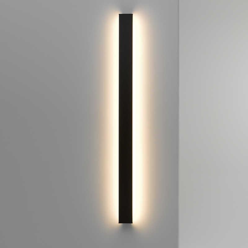 Minimalist yaratıcı uzun duvar lambası Modern LED arka plan duvar lambası oturma odası başucu alüminyum duvar lambası aydınlatma aplik