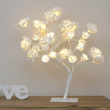 LED Rose Table Lamp Ins Fairy Flower Light USB Romantic Wedding Room Christmas Wreath Decor Valentine's Day Present Night Lights valentine s day rose confession present led night light