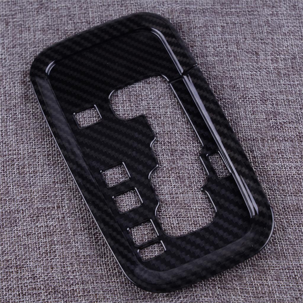 1*Carbon Fiber Car Interior Gear Panel Cover Trim For 2011-2018 Jeep Wrangler JK