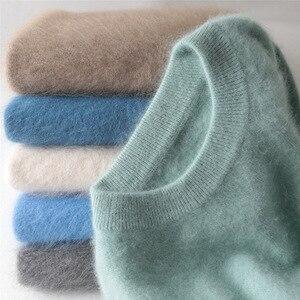 Jinjiaxian мужской свитер с круглым вырезом, толстый свитер с капюшоном, мужской зимний свободный свитер, вязаный свитер большого размера, кашем...