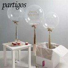 100 adet/grup 10/18/24 inç şeffaf kabarcık balonlar PVC süper net helyum Bobo ışık Globos doğum günü düğün parti dekor hediyeler