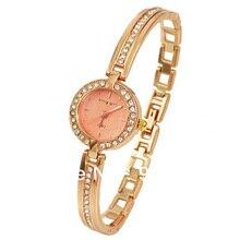 цена на Rose Gold Bracelet Bangle Rhinestone Crystal Wrist Watches Ladies Watch Original Quartz Women Fashion Wristwatch Dames Horloges