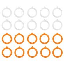 10Pcs Selos de Vedação de Silicone Hermético Jar Juntas De Substituição à prova de Vazamento-Vedações De Borracha Anéis Cabe Regular Boca Frascos De Conservas latas