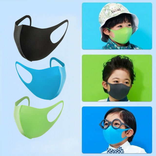 Children Protective Mask Reusable Anti-Dust Haze Flu Face Mask Kids Washable Mouth Mask Respirator Solid Dustproof Masks D30 5