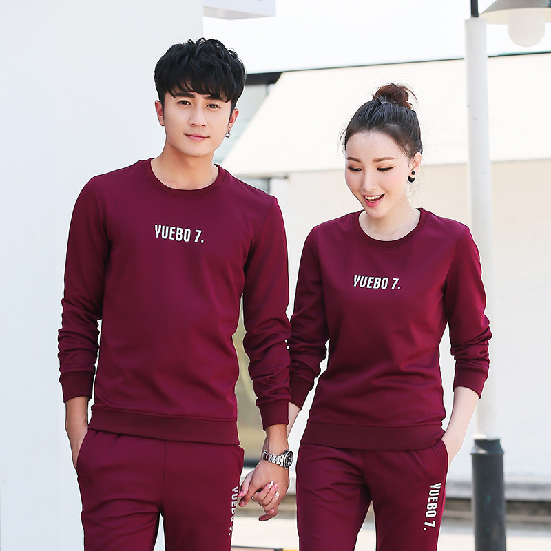 Couples Sports Set 2019 Spring And Autumn New Style By Age Slim Fit Teenager Men And Women Simple Leisure Suit