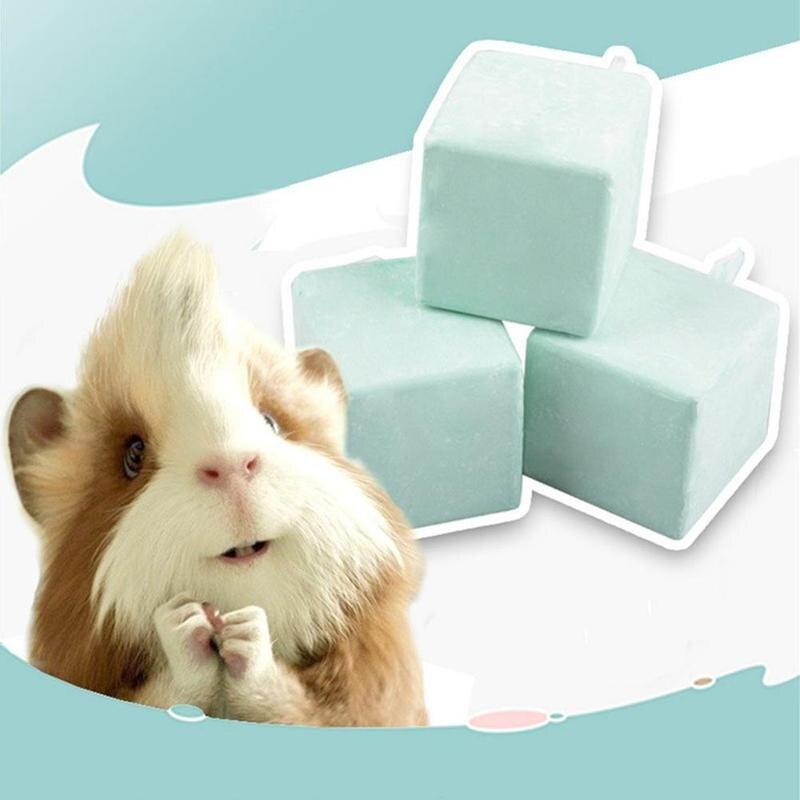 1pcs Hamster Teeth Grinding Stone Mineral Calcium Chew Toy Teeth Grinder Rabbit Rat Squirrel Fidget Spinner Figet Cube