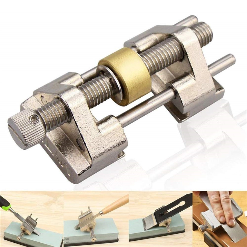 Brass/Stainless Steel Honing Guide Jig For Chisel Plane Blade Graver Iron Edge Sharpening Bevel Angle Sharpener Abrasive Tool