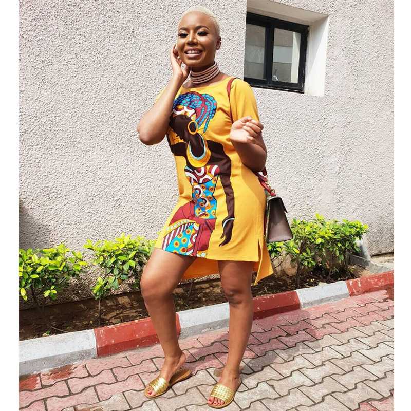 Super Size New Style African Clothes Dresses For Women Clothing Dashiki Fashion Print Cloth Dress Size S-5xl Dress