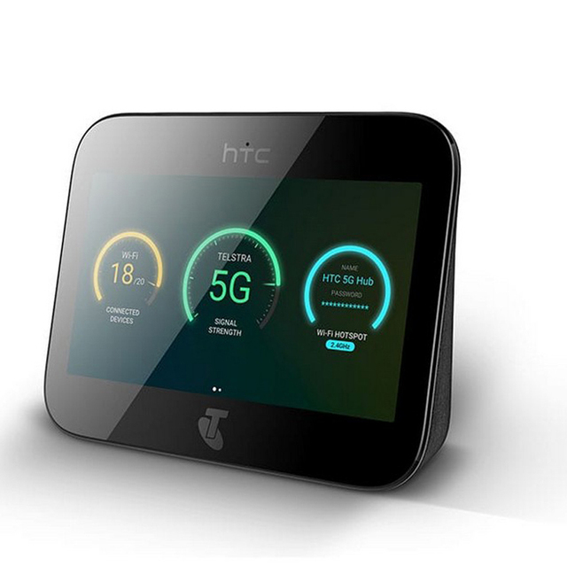 جهاز توجيه HTC 5G Hub 5G مفتوح يعمل بنظام الأندرويد tm9Pie wifi802.11ad بطارية 7660mAh 5g n41 2.63gbps 4G Lte (إصدار الولايات المتحدة)