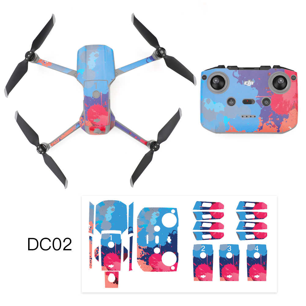 MAVIC Air 2 Multicolor Stiker Pvc Stiker Film Pelindung Tahan Air Anti Gores Stiker Kulit untuk DJI MAVIC Air 2
