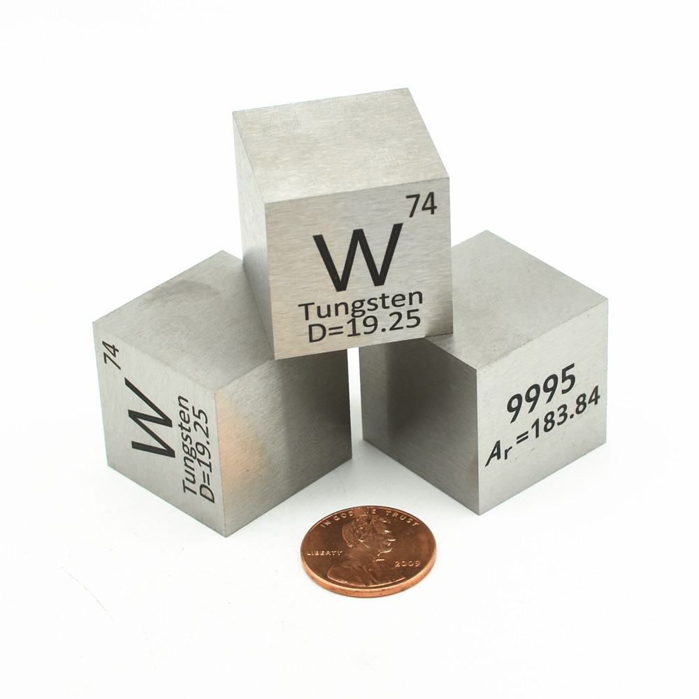 Tungsten Block 25.4mm Density Cube W 99.95% Pure for Element Collection Hand Made DIY Hobbies Crafts Display 10mm 15mm 50mm Plai