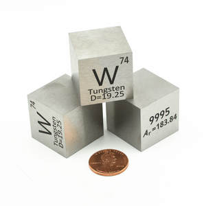 Display Crafts Tungsten-Block Cube-W Hobbies 10mm Element-Collection for Hand-Made DIY