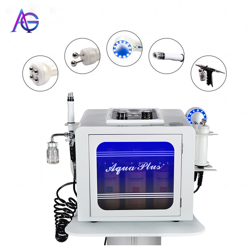 5 In 1 Water  Oxygen Facial Machine Korea Small Bubble Therapy Equipment