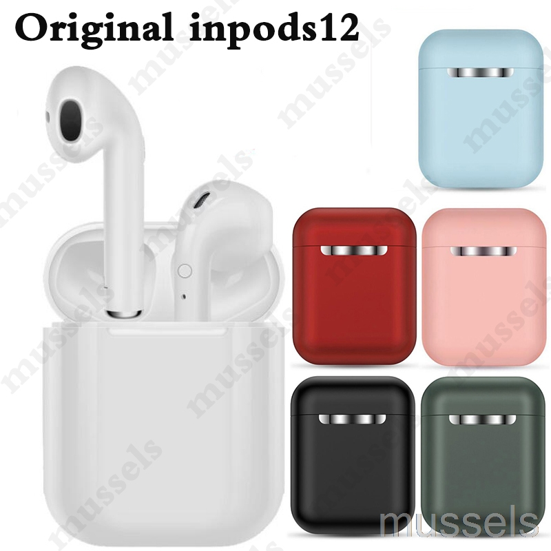 Wireless Headset inPods 12 TWS Touch Key Bluetooth 5 0 Sport Earphone Stereo For iPhone Xiaomi Huawei Samsung Smart Phone