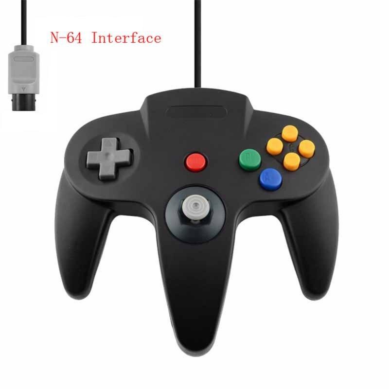 N64 gamepad com fio controlador joypad para gamecube joystick jogo acessórios almofada para clássico 64 consoles jogos n64 porto