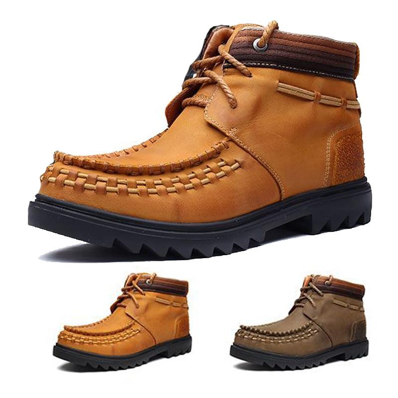 Militaire Leger Mannen Laarzen Winter Lace Up Waterdicht Combat Enkel Tactische Sneeuw Boot Man Werkschoenen 7 #15/ 15D50