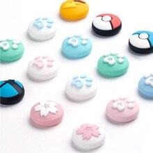 Cute Cat Paw Claw Sakura Thumb Stick Grip Cap Joystick Cover For Nintend Switch Lite Joy Con Controller Gamepad Thumbstick Case