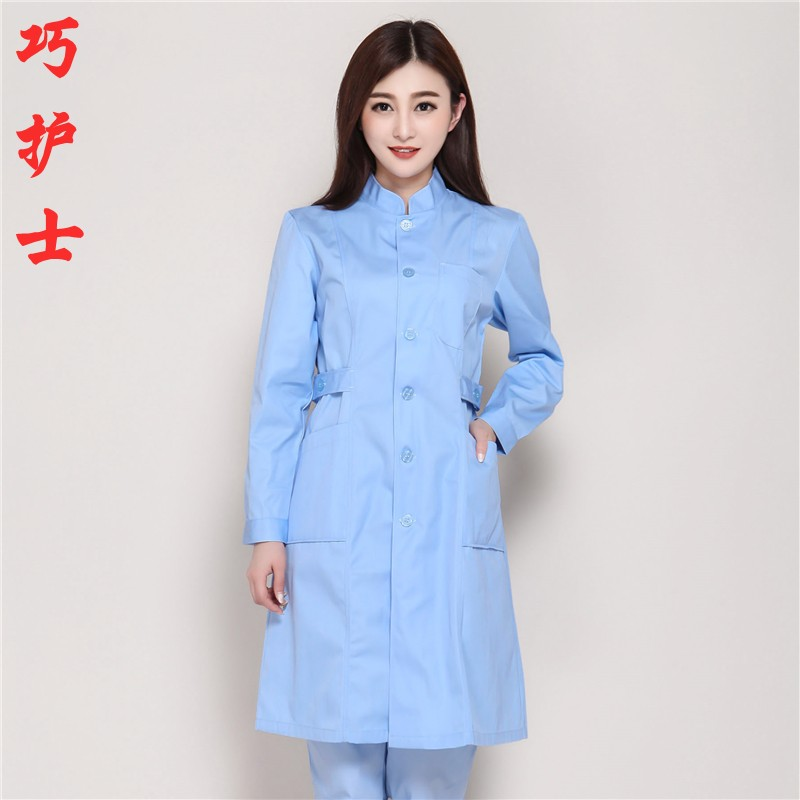 The Long Sleeve Doctor Suits Men And Women Nurses To Wear Uniform Of Drugstore -a