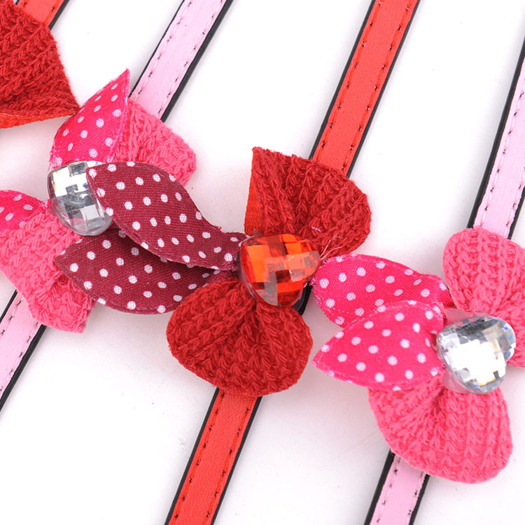 Lace Bow Dog Neck Ring Flower Dog Neck Ring Pet Small Dog Collar Collar Small Dog Accessories