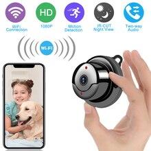 Беспроводная мини WiFi камера 1080P HD ИК Ночное Видение микро камера Домашняя безопасность IP камера CCTV Обнаружение движения детский монитор