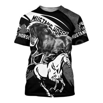 Tessffel Animal Love Racing Horse Funny Casual NewFashion Harajuku 3DPrint Summer Streetwear man's top T-shirts Short Sleeves s7 1