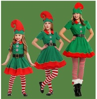 Mother Daughter Dresses 4pcs Christmas Cosplay Mommy and Me Clothes Family Matching Outfits Look Mom Mum and Baby Dress Clothing
