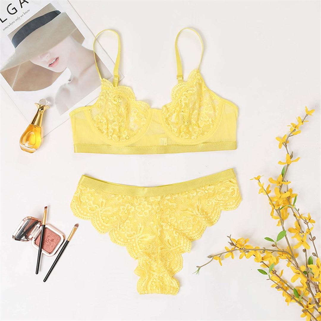Ensemble Lingerie Sous-Vêtements En Dentelle Sexy