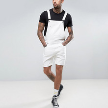 Pocket Suspender Pants 2019 Men Summer  Streetwear Solid Pocket Overall Jeans Male Knee Length Overall Plus Size S-3XL L0823 overall eccentric bearing 35uz864351t2 s