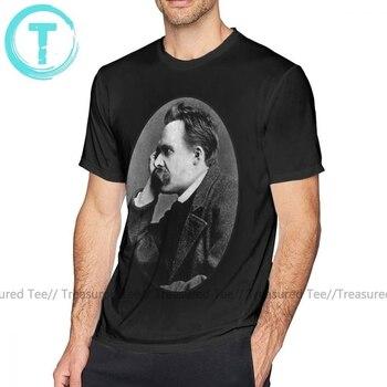 Philosophy T Shirt Nietzsche T-Shirt Men Cotton Tee Shirt 6xl Awesome Beach Graphic Short Sleeve Tshirt