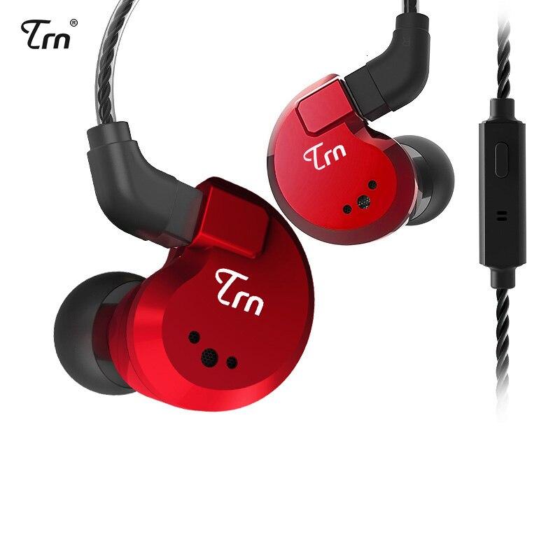Trn v80 2ba+2dd hybrid metal in ear earphone iem hifi dj monitor running sport earphone earplug headset headplug im2/im1 x6