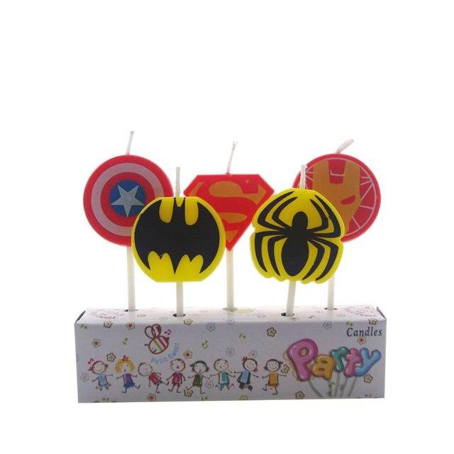 5 sztuk/partia Spider-man świeca Spiderman zaopatrzenie firm dzieci urodziny świece wieczorne dekoracje świąteczne zestaw Party Cake Candle Supply