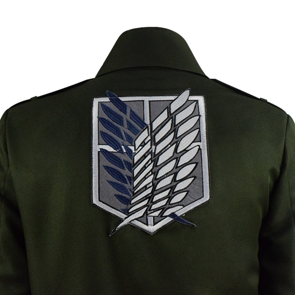 Cosdaddy Rivaille Cosplay Costume Scout Regiment Uniform Army Green Jacket Rival Ackerman Anime Costume