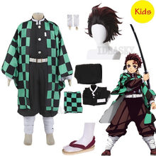 Anime Kostüm Dämon Slayer Cosplay Tanjirou Kamado Cosplay Kostüm Kimetsu keine Yaiba kinder jungen kinder Kimono Halloween Kostüm